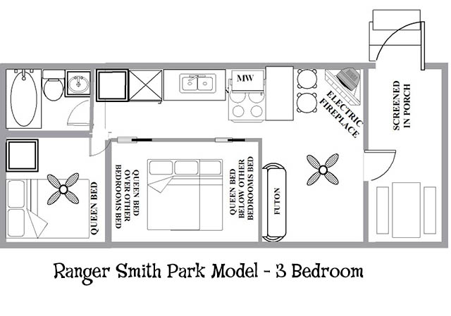 Ranger SmithTM Park Model 3 Bedroom