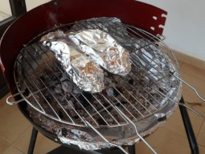 foil packs on the grill