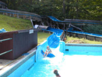 waterslide fun at yogi bear jellystone park in mill run - great camping in the laurel highlands of pa