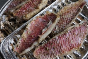 Grilled fish best camping meal