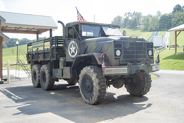 Military Transport Truck Rides at Mill Run Jellystone near Pittsburgh