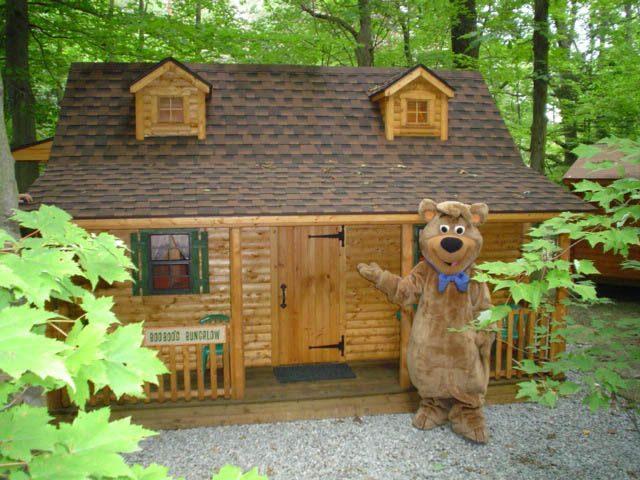 Boo Boo Bungalow Vacation Rental near Pittsburgh at Jellystone Mill Run