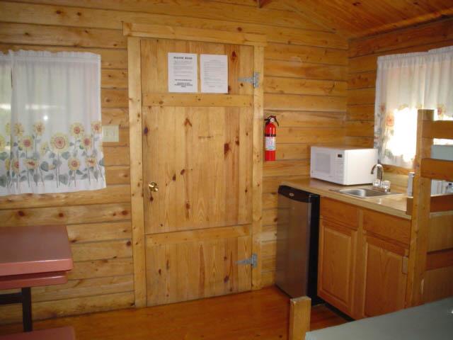 Kitchen at Boo Boo 1 Room Cabin - Non Pet Friendly