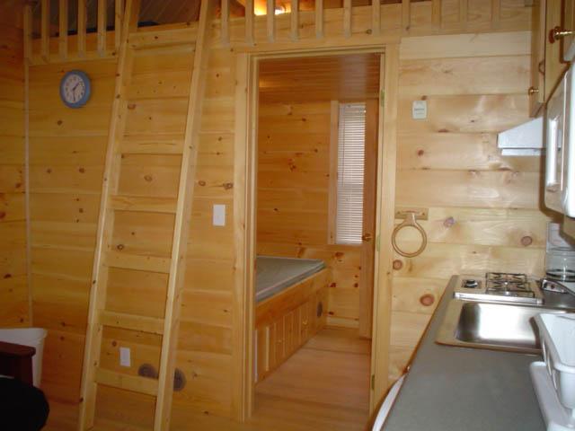 kitchen area of cindy bear single loft cabin